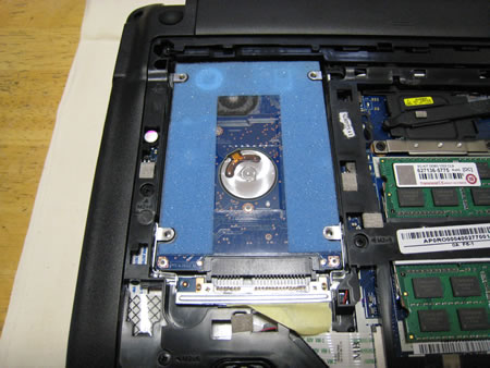 ハードディスク(HDD)の取り外し その1